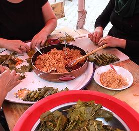 Turkish + Syrian women cooking