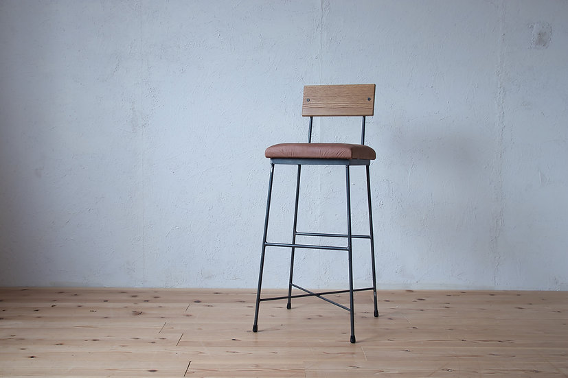 COUNTER CHAIR -leather-