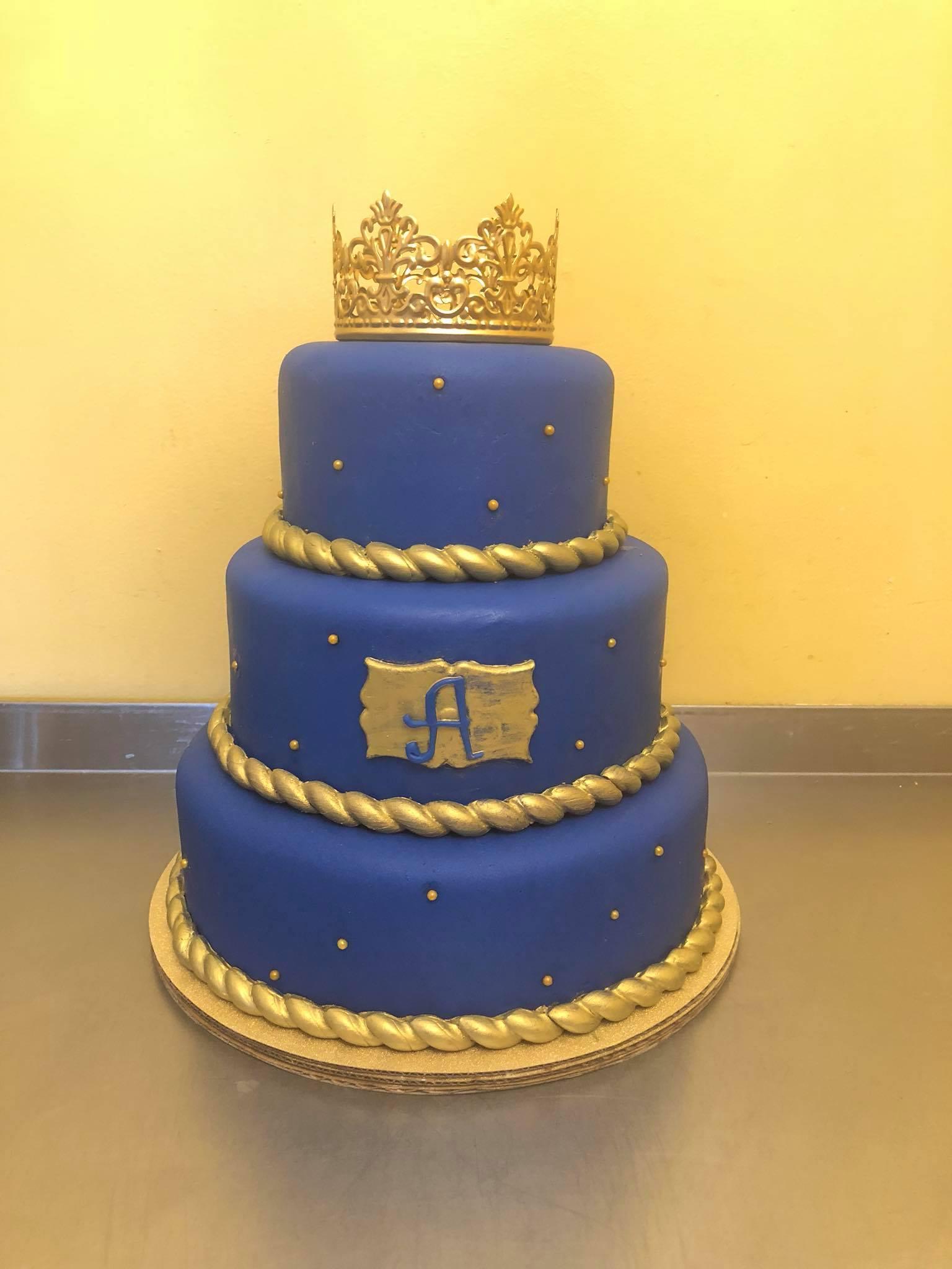 Prince Theme Babyshower Cake