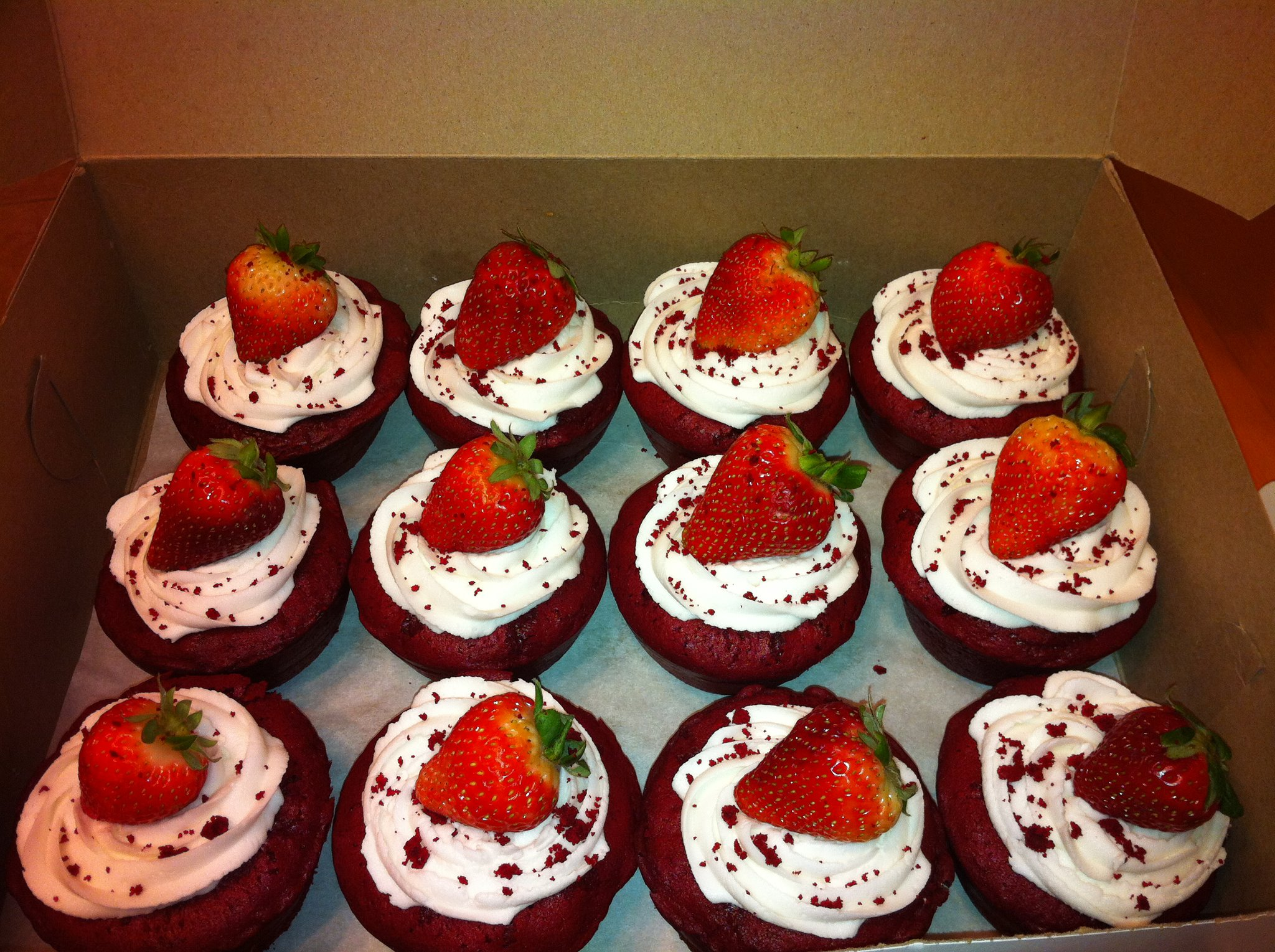 Red Velvet with Strawberries