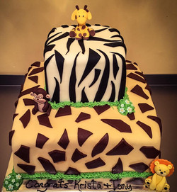 Babyshower Wild Animal Cake