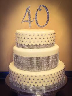40th Birthday Bling Cake