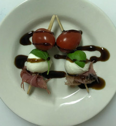 Proscuitto and Caprese Bites