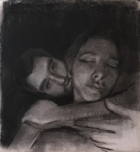 A sketch of lovers