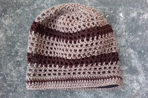 ILA Custom Striped Dread Nett  Crochet Tam