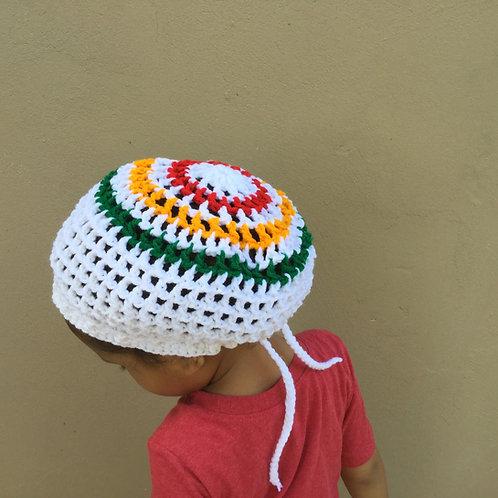 Rasta Rainbow Youth Round Nett Tam for Age 5-11