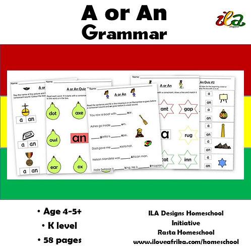 A or An Grammar Pack