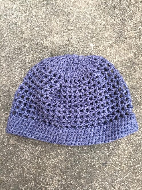 Denim Wash XS Crochet Tam