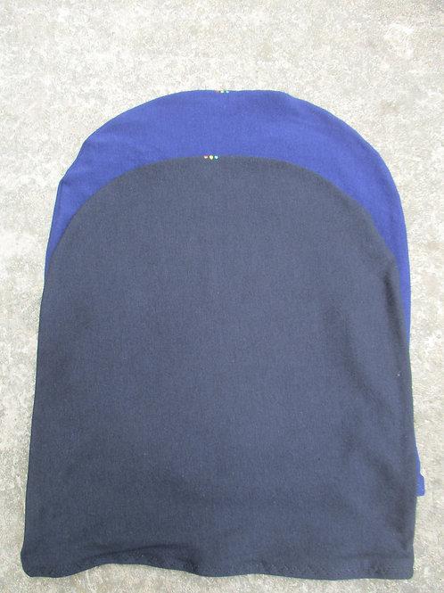 Navy & Black L 23 inches Unisex Loc Cap