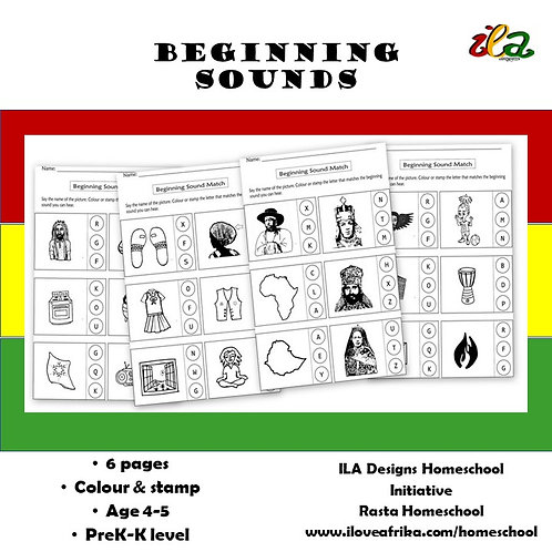 Beginning Sounds Stamp and Colour