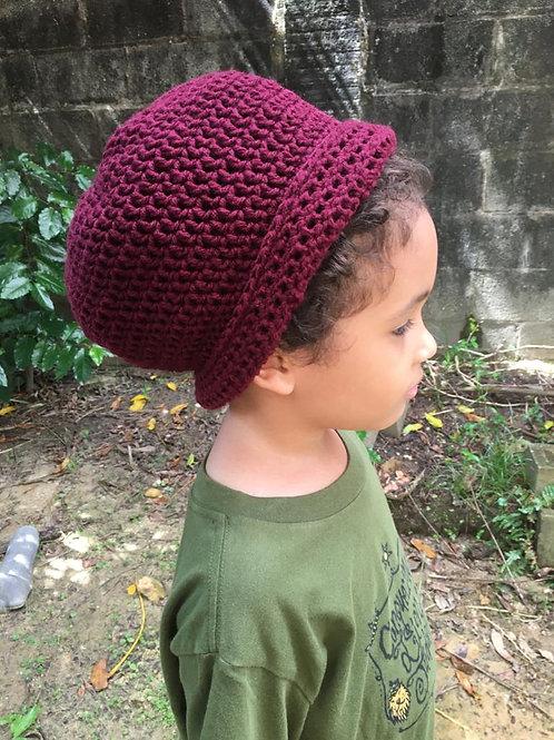 Small Berry Natty Roll-Up Crochet hat