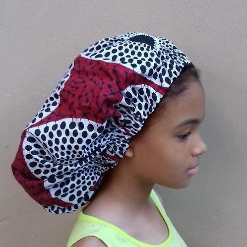 Wine Daze Afroprint Bonnet