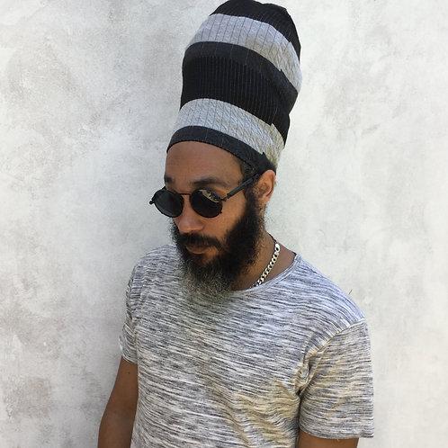 Striped Premium Knit  Loc Cap