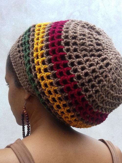 ILA Irie Dread Nett Rasta stripe Crochet Tam