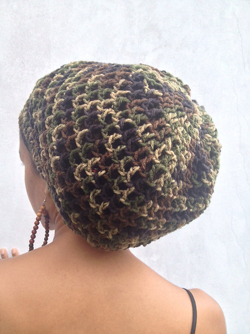 Jah Army Camo Nett  Crochet Tam