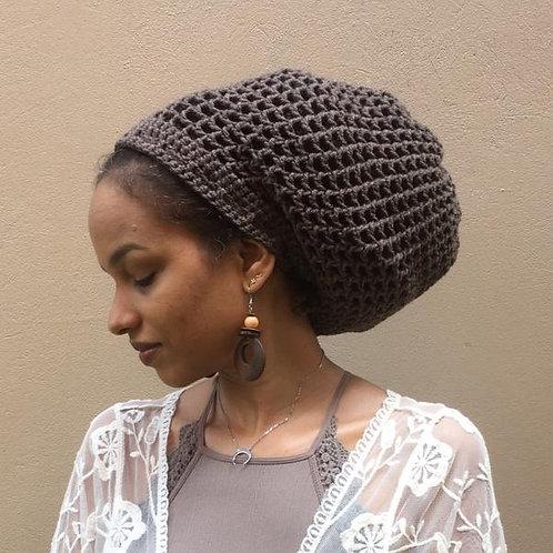 Taupe Dread Nett Crochet Tam