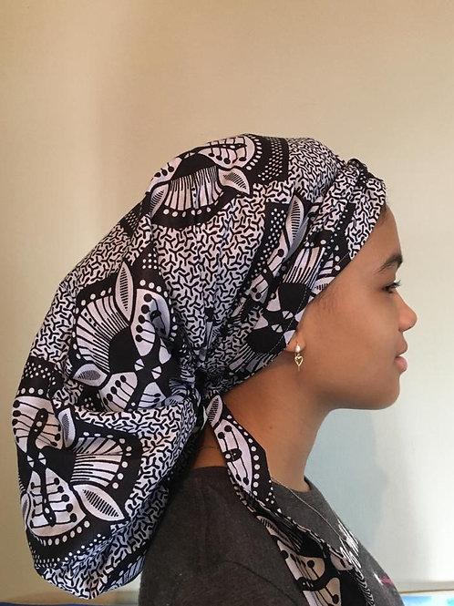 XL Black and White Bonnet
