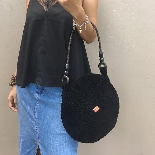 Midnight Syfer Crochet Handbag