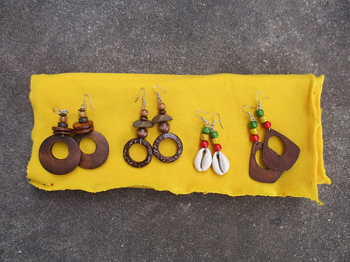 Sunflower  Loc Wrap  and Earring Set