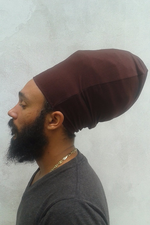 Brown Unisex Loc Cap