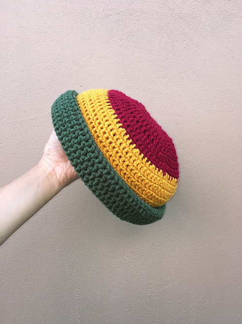 Rasta Natty Roll-Up Crochet Tam