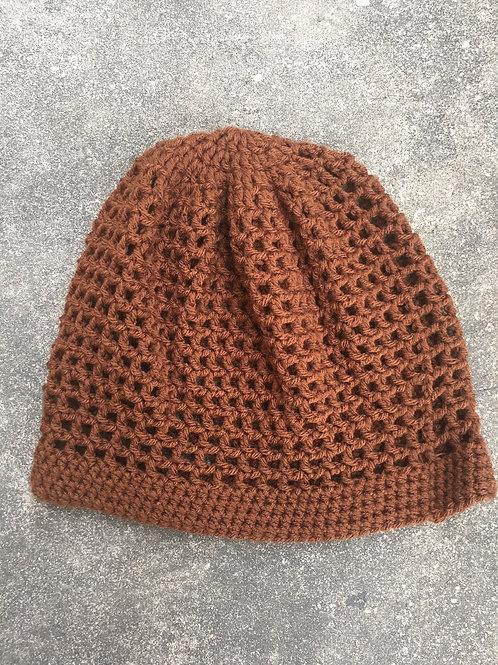 Walnut Brown Medium Crochet Tam