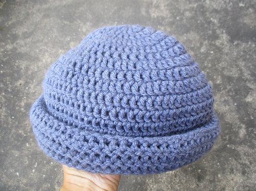 Denim M Natty Roll-Up Crochet Tam