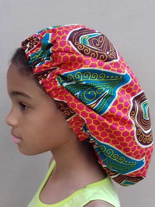 Bubblegum Afroprint Bonnet