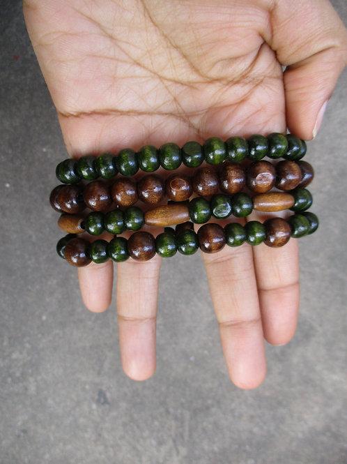 Unisex Dark Green Beaded Bracelets