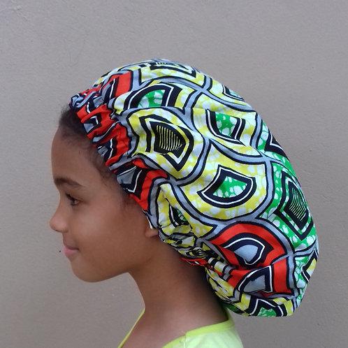 Garden Salad Afroprint Bonnet