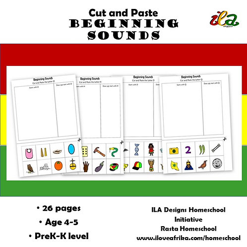 Cut and Paste Beginning Sounds Pack