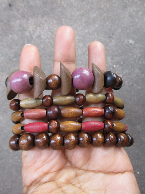 Purple and Brown Beaded Bracelets