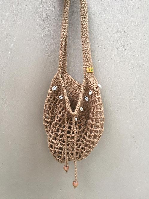 Sand Cowrie Nett Crochet Handbag
