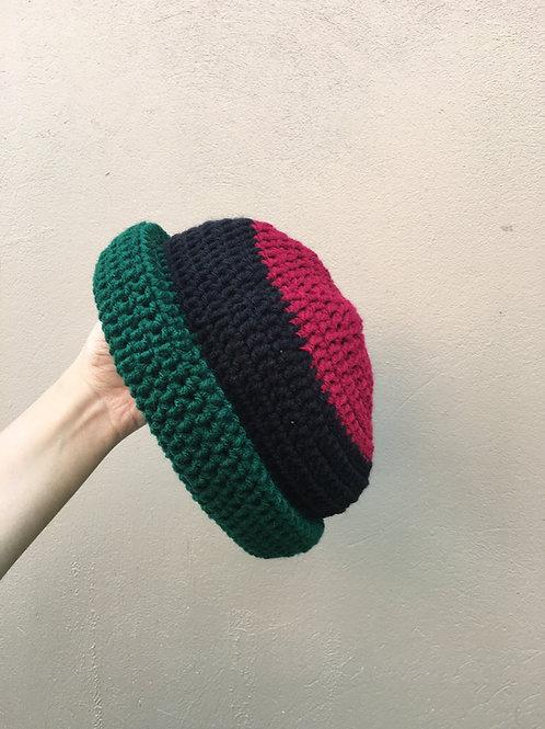 Garveyite Natty Roll-Up Crochet Tam