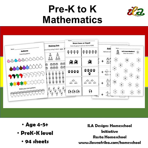 Mathematics Pre-K-K Pack