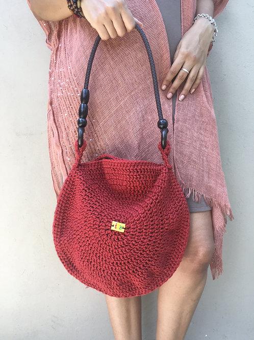 Copper Syfer Crochet Handbag