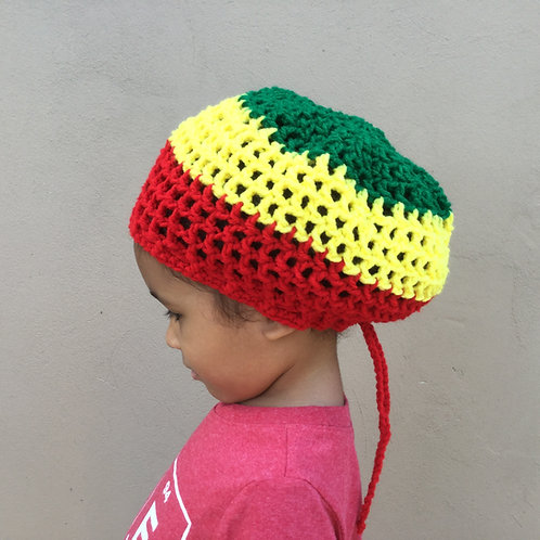 ILA Ethiopia Youth Round Nett Crochet Tam Age 5-11