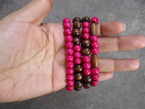 Hot Pink Beaded Bracelets