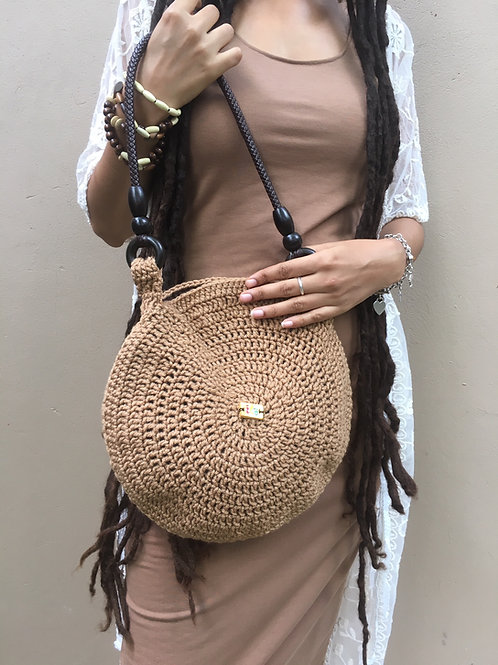 Sand Syfer Crochet Handbag
