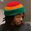 Thumbnail: Bright Rasta Roll-Up Crochet Tam