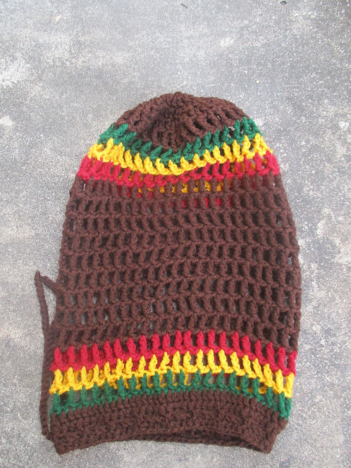 Brown Rasta Natty Nett  Crochet Tam XXL