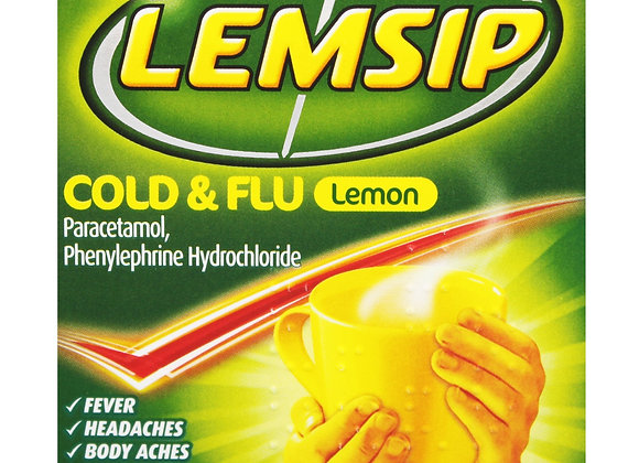 Lemsip Cold and Flu - Hot Lemon