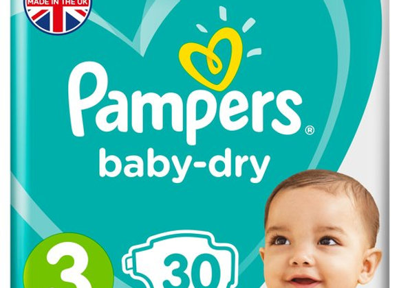 Pampers Baby-Dry Nappies - Size 3 (x30)