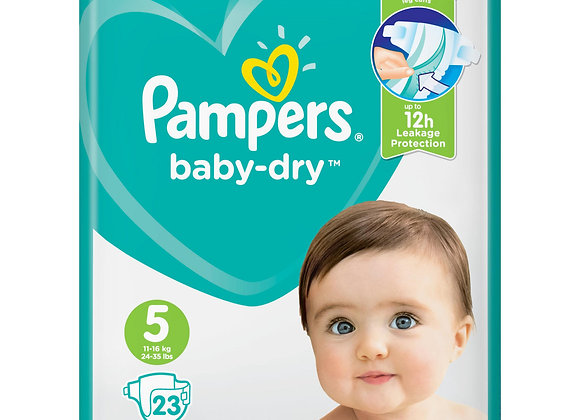 Pampers Baby-Dry Nappies - Size 5 (x23)