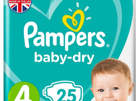 Pampers Baby-Dry Nappies - Size 4 (x25)
