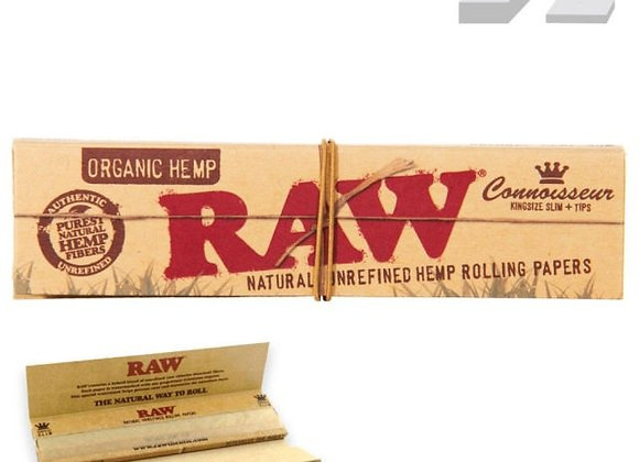 Raw Kingsize Rolling Papers w/ Tips