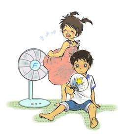 子供たちの夏休み