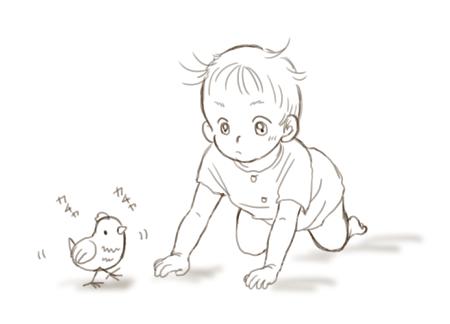 赤ちゃんとひよこのおもちゃ