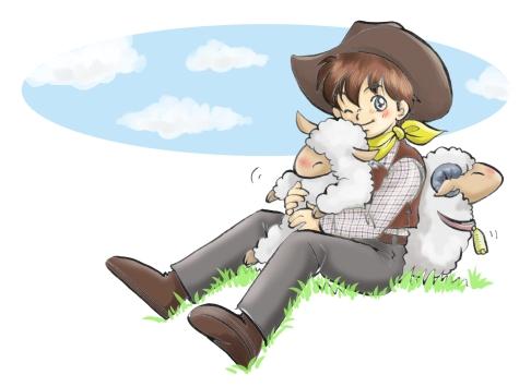 子羊を抱っこ♡