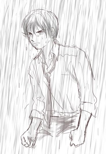 雨に濡れて